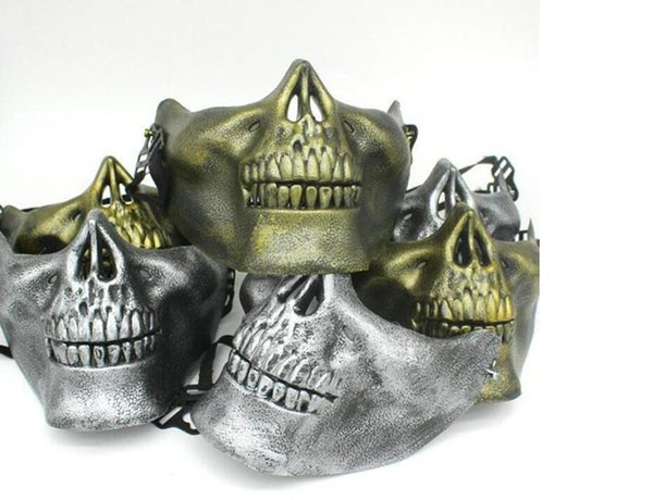 Máscaras de calavera Diversión Paintball PVC Airsoft Scary Skeleton Mask Juegos de CS protectoras Carnaval de Halloween Fiesta al aire libre shippiing libre