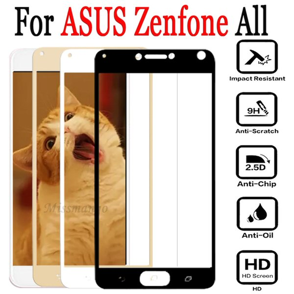 For asus zenfone 4 max zc554kl glass ZC520KL 4 Selfie ZD553KL Tempered Screen Protector protection Film glas full cover phone