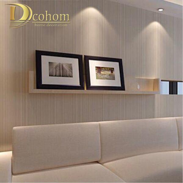Großhandel Moderne Minimalistische Stil Tapeten Gestreiften Einfarbig Vlies  Tapete Wohnzimmer Tv Sofa Hintergrund Wandverkleidung R521 Von Herbertw, ...