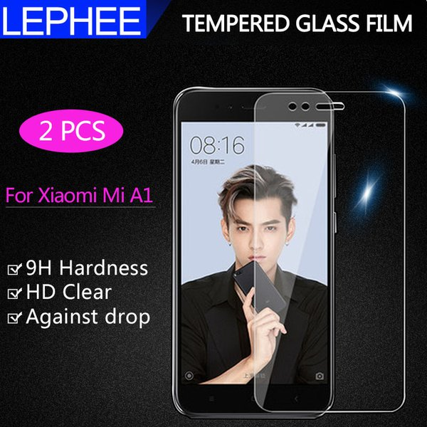 LEPHEE 2 pieces for Xiaomi Mi A1 Tempered Glass Mi A1 5X Screen Protector Film Xiomi M 5X Phone Tempered Glass 2.5D