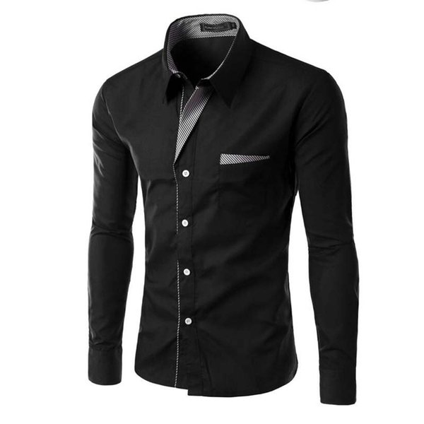 Men Shirt 2018 Spring Brand Business Men'S Slim Fit Dress Shirt Male Long Sleeves Casual tee homme Camisa Masculina