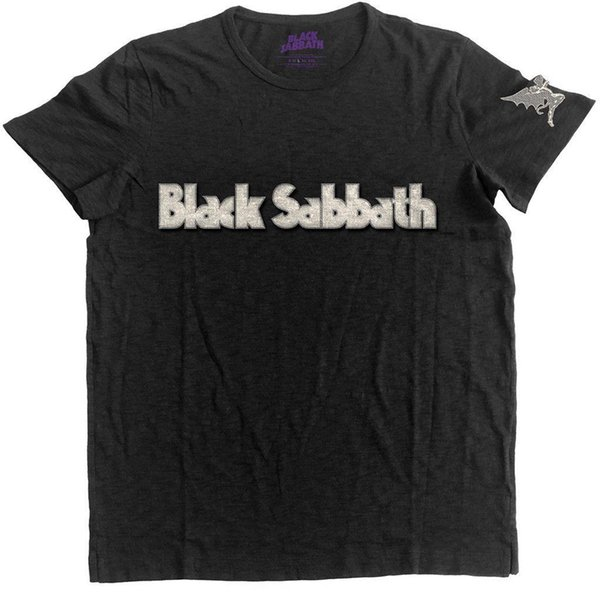 Футболка Black SABBATH' Logo And DAEMON' с аппликацией SLUB - NUOVO E ORIGINALE