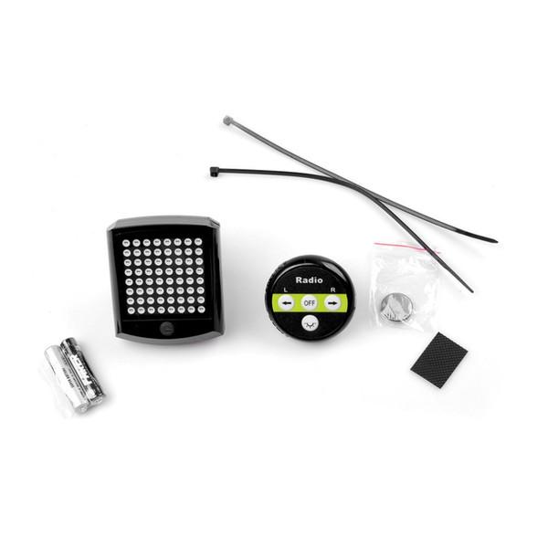 T603A Alimenté par Batterie Sans Fil Vélo Lumière 64 LED Vélo Clignotant Télécommande Avertissement Feu Arrière Feu Arrière En Gros