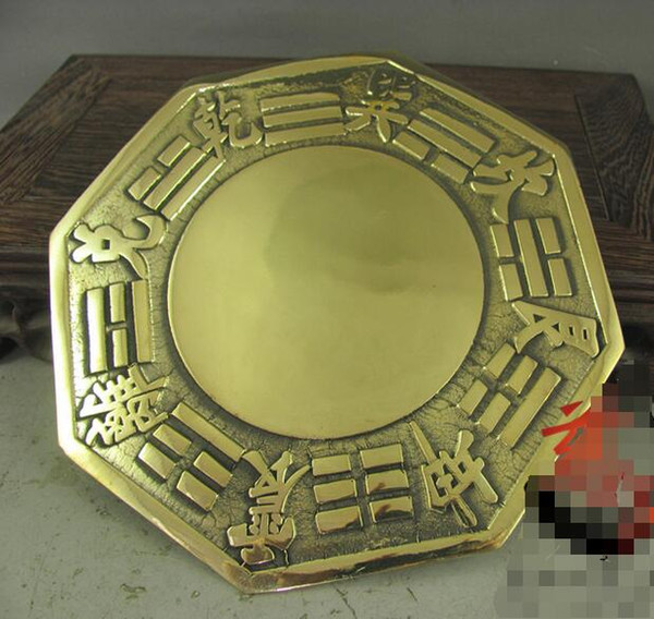 Kai Guanghua Jucai pure brass Feng Shui gossip mirror convex mirror large 13 cm thick double-sided process