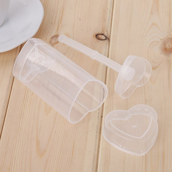 Cake Push Up Pop Clear Love Heart Shaped Ice Cream Molds Hygienic Removable Plastic Cupcakes Container Popular 0 59sj YB