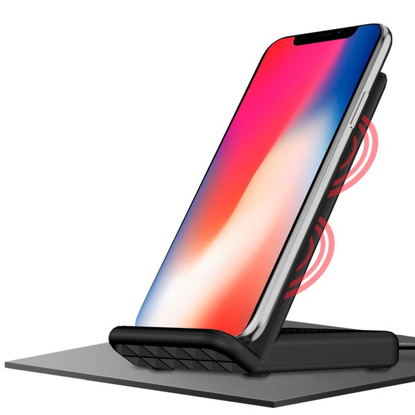 Cell Phone Qi Wireless Chargers Fashion Black USB Fast Charging Stand Pad Protable Mobile Universal Charger New