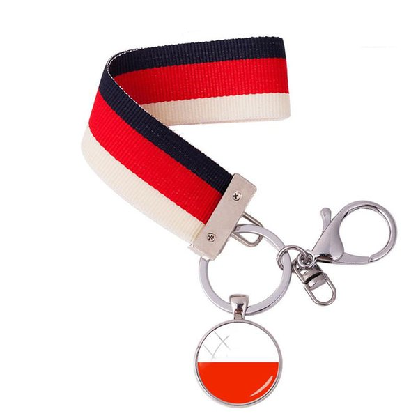 2018 New Design Germany Flag Icon Ribbon Keychains Central Europe National Flags Ribbon Keyring In Key Chains As Jewelry