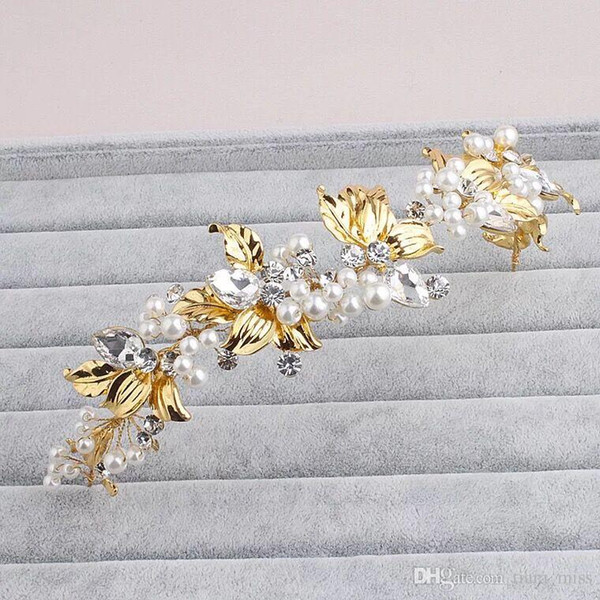 New Fashion Crystal Flower Headpiece Wedding Hair Accessories Special Occasion Headbands Bridal Headband Tiara Free Shipping