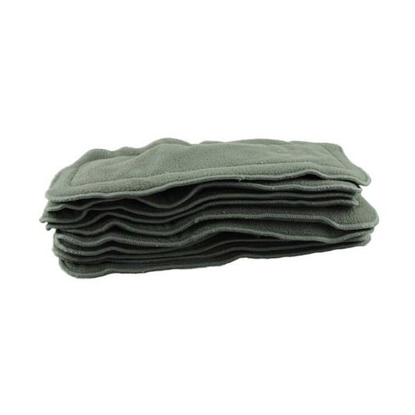 Baby Diaper Nappy Newborn Cloth Diapers Reusable Bamboo Charcoal Washable Diapers Inserts 4 Layers Baby Cover 5pcs/lot