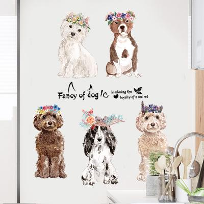 150*60cm Fancy of Dogs Wall Stickers Wallpaper Paper Peint 3d Home Decor Bathroom Kitchen Accessories Household Suppllies