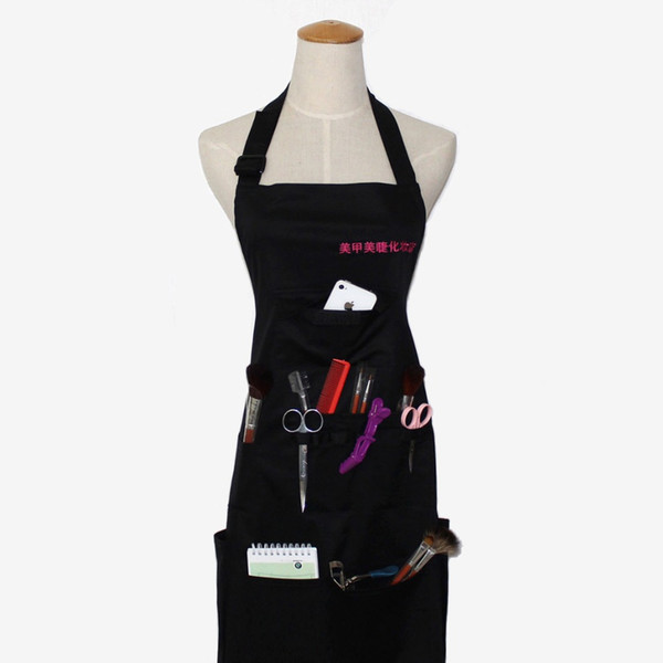 Multi pocket Salon Hairdresser Work Apron Hairdressing Barber Hair Cutting Clothes Styling Tools