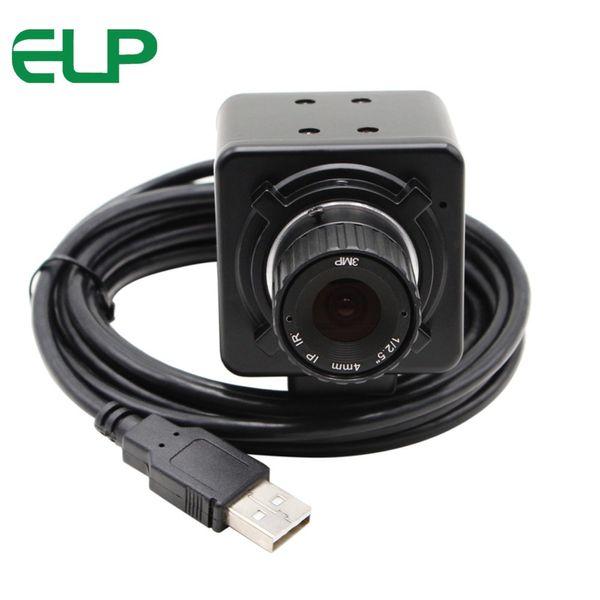 ELP 8 megapixel ad alta risoluzione SONY IMX179 Mjpeg Hd USB Videocamera industriale 6 mm obiettivo di messa a fuoco manuale Webcam Fotocamera USB da 8 MP