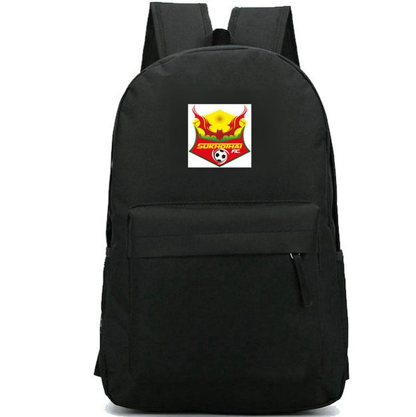 Sukhothai FC backpack Thailand daypack Hot football club schoolbag Soccer badge rucksack Sport school bag Outdoor day pack