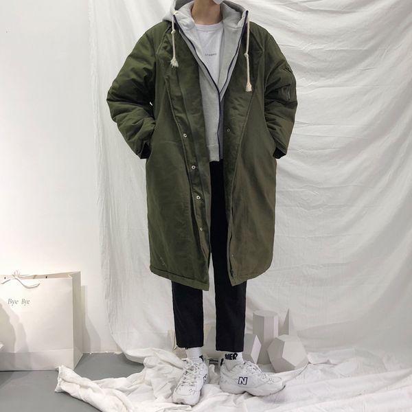 2018 Kore Tarzı Kış erkek Su Geçirmez Parkas Marka Casual Kar Ceketler Sıcak Pamuk-yastıklı Giysiler Içinde Coats Artı Boyutu M-XL