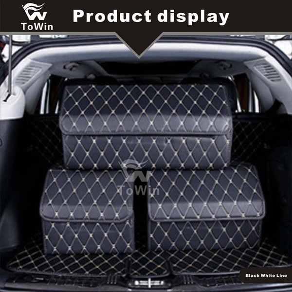 Collapsible Car Trunk Organizer Toys Food Storage SUV Cargo Container Bags Box Car Stowing Styling Auto Accessories.