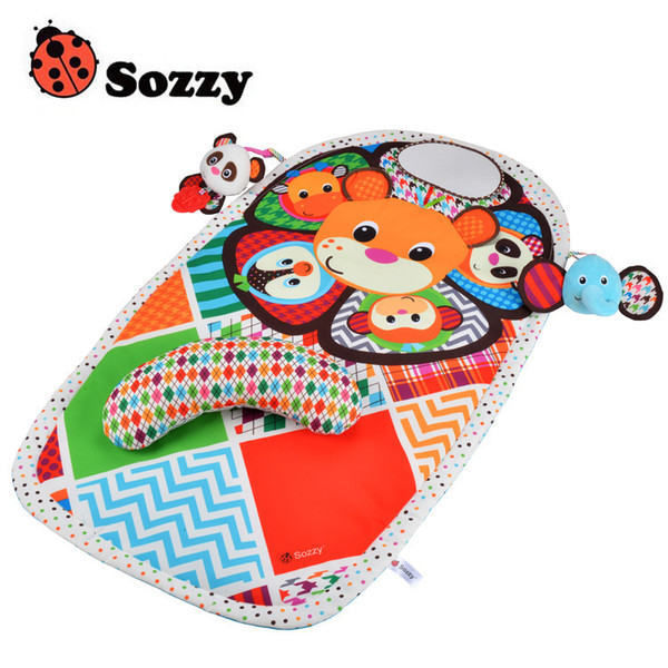 best selling Sozzy Baby Cute Cartoon Animal Plush Doll Multifunctional Crawling waterproof diaper mat Big Size game blanket