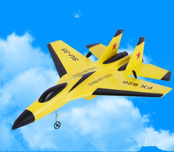 EVA foam wireless remote control aircraft,Su35/F16 toy fighter, USB charging,children's fixed-wing toy combat aircraft.