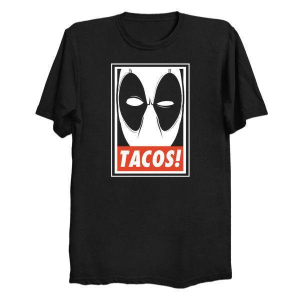 TACOS Dead Pool Tee shirt Homme Tee shirt Coton Imprimé T-shirt Top Blanc