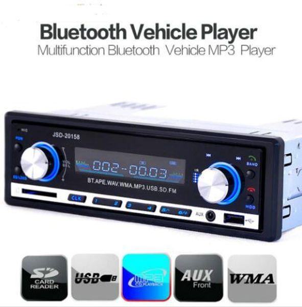 Digital Car Stereo Bluetooth Audio Music MP3 Player 1 DIN In Dash FM Radio Aux Input Receiver SD USB MP3 Player