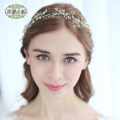 New handmade crystal hair band / Bridal wedding jewelry / Europe and the United States wedding dress headdress/more style into the shop pick