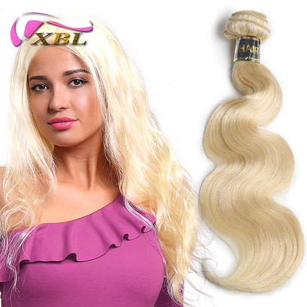 Xblhair Brazilian Body Wave Remy human Hair Weft 3 PCS #613 long blonde Human Hair Weave hair Bundles