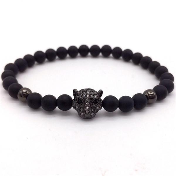 2018 Hot Fashion Crown Lion Head Leopard Men Luxury Bracelet With Stone Charm Bracelet For Men Or Women Jewelry Gift