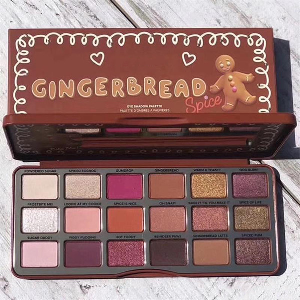 Newest Makeup Palette Face Gingerbread Eye shadow palette 18colors Eyeshadow Palette Holiday Collection 60PCS