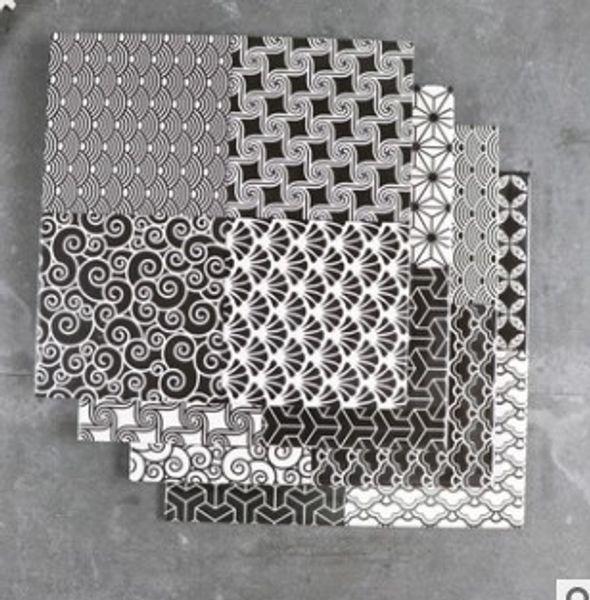 Nórdico tijolo preto e branco tijolo restaurante parede tijolo antiderrapante resistente ao desgaste