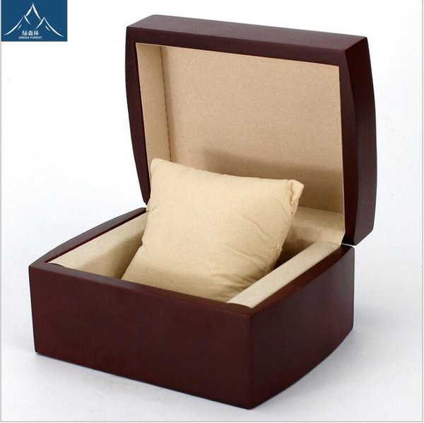 flannel jewelry box flip wooden box custom watch Rectangle Storage Boxes for Expensive Watch Display Collection