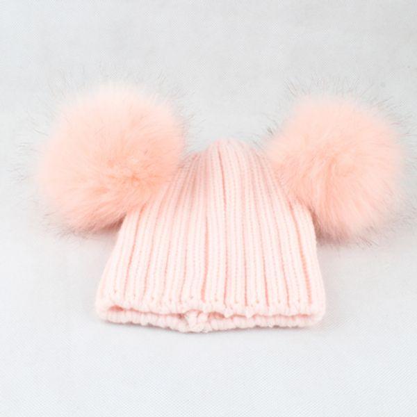 pink hat pink fur one free size