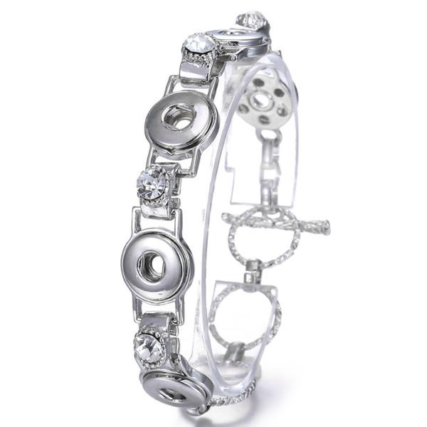 Hot Sale NOOSA 12mm Snaps Button Adjustable Rhinestone Bracelet Bangles Jewelry Chunk Fit Women DIY Snap Buttons Bracelet Bangle Jewelry