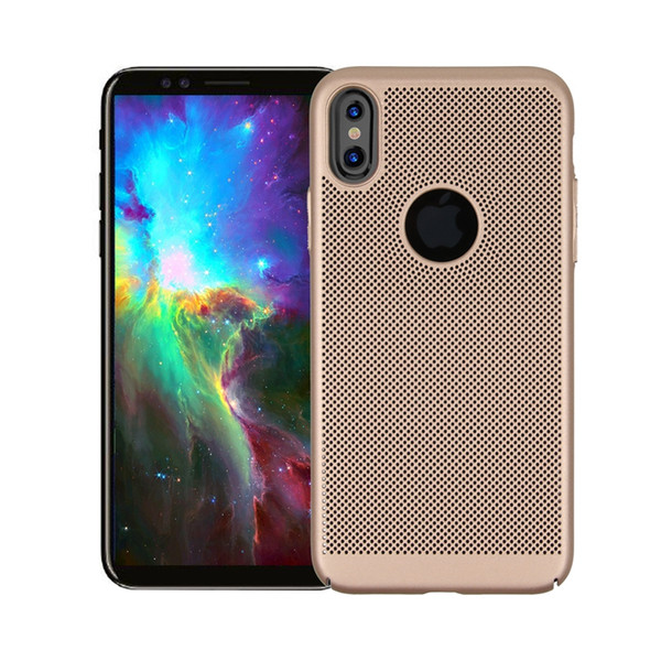 For iPhone XS /New Iphone XR Mesh Net Grid Hollow Out Dot Ventilation Mat PC Hard Back Cover Case for iphone X (5.8 inch)