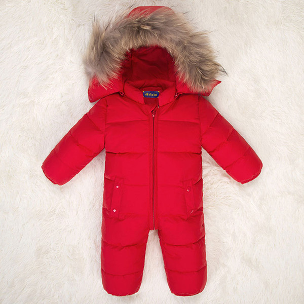 Kış 2018 çocuk Tulumları Erkek Bebek Tulumlar Yenidoğan Kaydırıcılar Bebek Aşağı Takım Toddler Romper Sıcak Kız Onesie Set