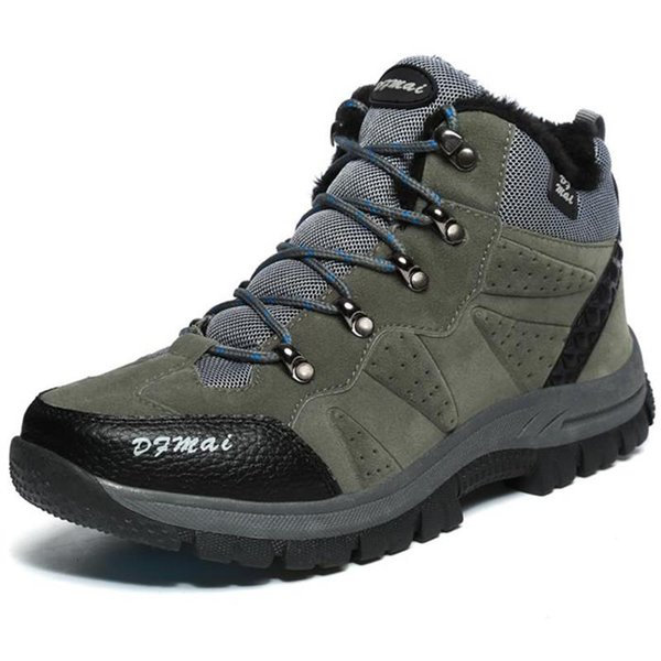 Hiking Shoes Anti-skid Men Outdoor Hiking Trekking Shoes Breathable Fishing Climbing Shoes Men Sneakers Wear Resistant Boots