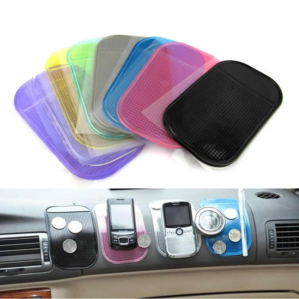 8 Antidérapant Tapis Antidérapant Haute qualité Voiture Magic Anti-Slip Dashboard Sticky Pad Titulaire Du Téléphone Adsorbability Silica Gel Magic Car Sticky Pad
