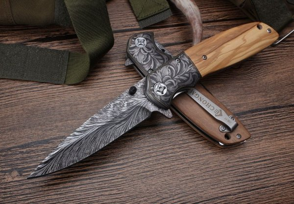 CM77 knife 440C blade wood handle Outdoor Camping Hunting Survival Knife EDC Tools knives xmas gift knife 1pc for man