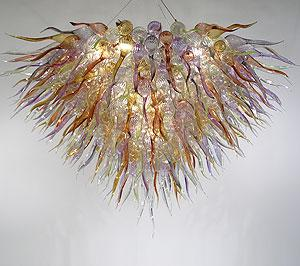 AC 110 V Antika Cam Avize Işık Otel Dekor için 100% El Üflemeli Cam Modern Sanat Dekorasyon Cam LED Kolye lambaları