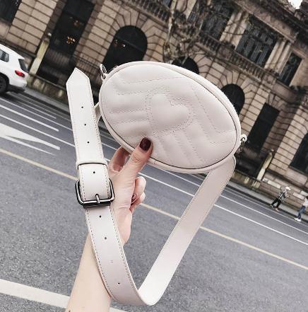 Новая мода личность персик сердце талии сумка одно плечо перекоса охватывающих Алмаз цепи мешок