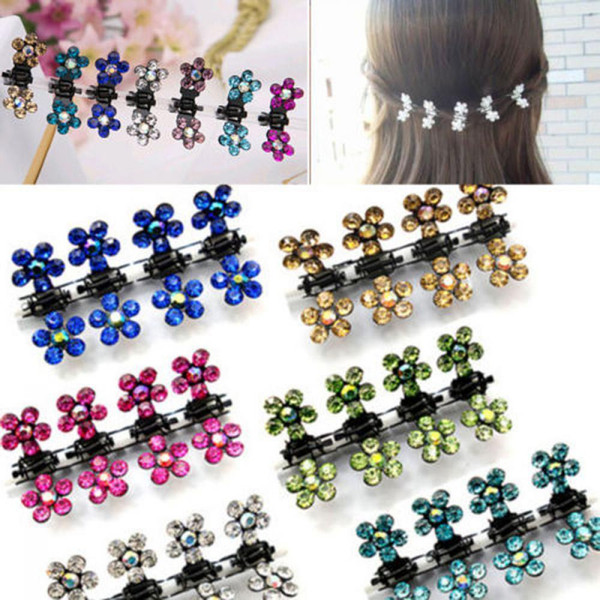 12 Pcs/Set Lovely Girls Hairpins Kids Flower Mini Barrettes Lady Hair Flower Claw Clamp Hair Clip hair accessories for women
