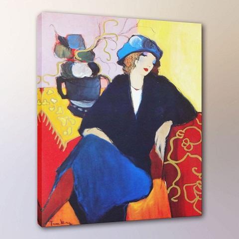 Itzchak Tarkay Companions Women Lady Cafe Portraits Art,Handpainted /HD Print Wall Art Oil Painting On Canvas.Multi Sizes /Frame It77