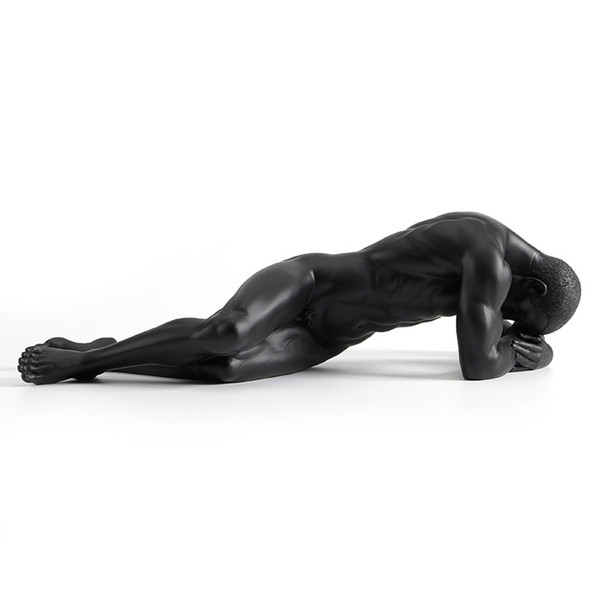 Resin creative display contemporary nude art male sculpture soft cafe household accessories dies Star naked art men