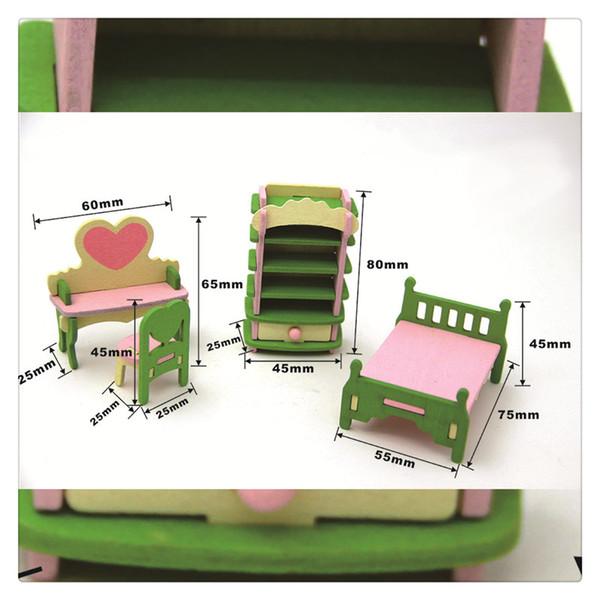 Головоломки игрушки творческий деревянный моделирование мебель 3D сборка головоломки набор строительных блоков головоломки высокое качество
