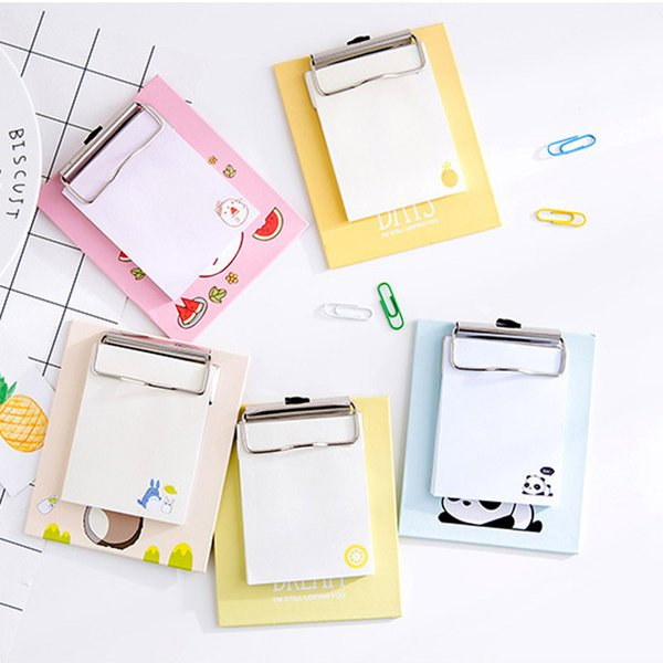 1PCS Creative Board Clip Small Notebook Sticker Cute Notebook Can Tear Cartoon N Times Post Stationery School Office Supplies