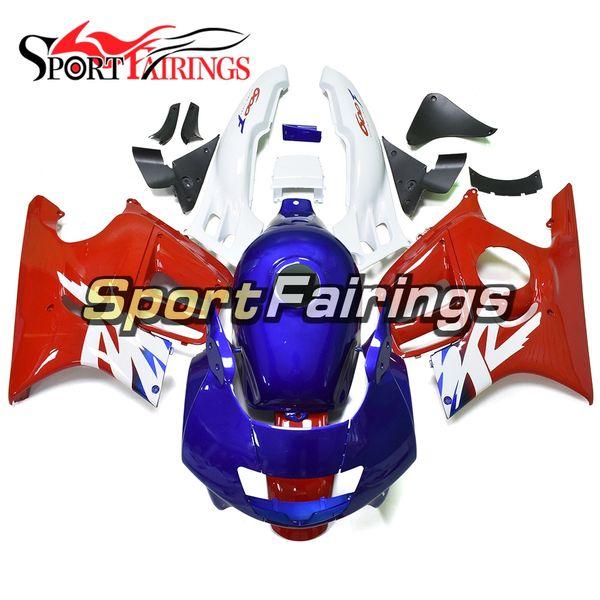 Komplette Einspritzung Weiß Blau Rot Verkleidungen für Honda CBR600F3 Jahr 95 96 1995 1996 Sportbike ABS Kunststoff Motorrad Body Kit