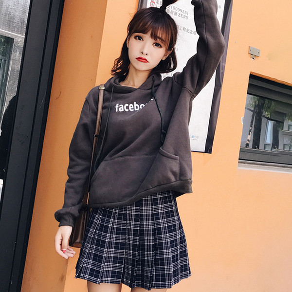 769b6eb68d61d 2019 Girl Plaid Skirt High Waist Pleated Skater Skirt Women A Line School  Preppy Clothes Plus Size Uniform With Inner Shorts From Volontiers, &Price;  ...