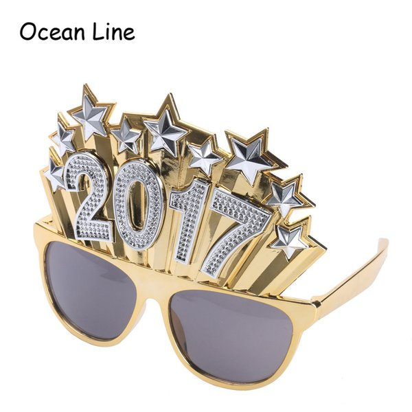 New Arrival 2017 Gold Crown Diamond Photo Booth Props Funny Star Glasses Birthday Party Decorations Kids Event Party Supplies