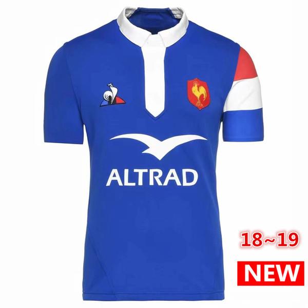 Migliore qualità 2018 2019 Francia Rugby Maglie 18 19 Francia Maglia League Jersey Abbigliamento casual s-3xl spedizione gratuita