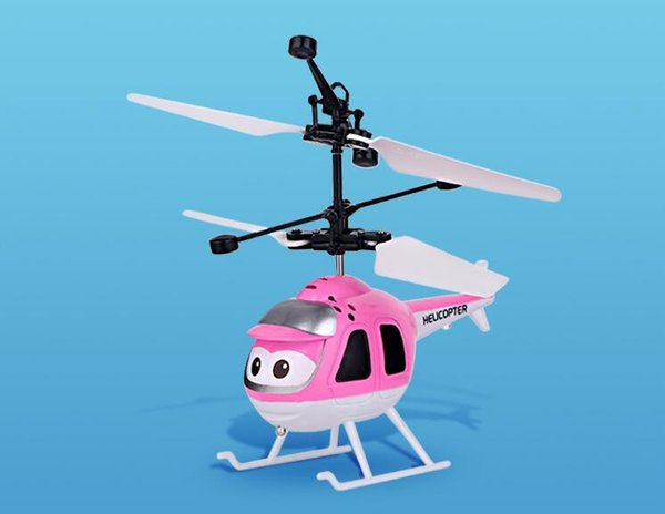 Helicopter toys Aircraft toys Remote control helicopter _ stall selling helicopter aircraft induction small yellow people wholesale children