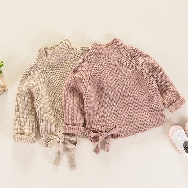 Girls\u0027 Sweaters Autumn And Winter Girl Knitted Long Sleeve Turtleneck Solid  Color Sweater Girl Warm Clothing Pullover Sweater Toddler Knit Sweater