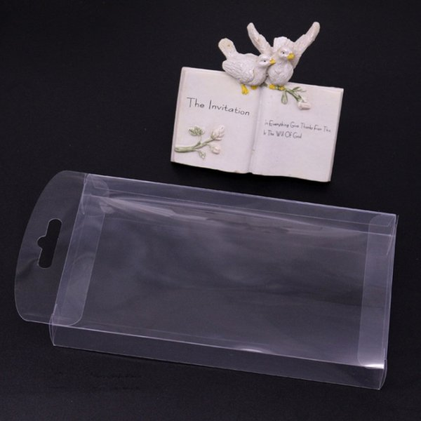 New Clear PVC Box Packing Wedding/Christmas Favor Chocolate Candy Gift Event Transparent Box/Electronic Toys Case With Hook